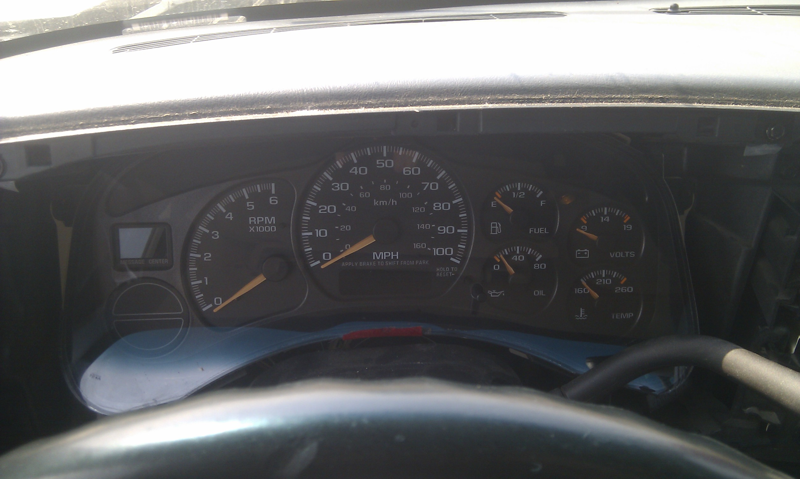 Picture of Obtain Access to the Instrument Cluster