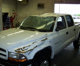 Fixing a Pickup Truck After A Roll Over