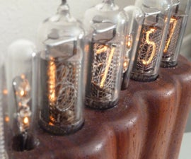 Wooden Glowing Nixie Clock