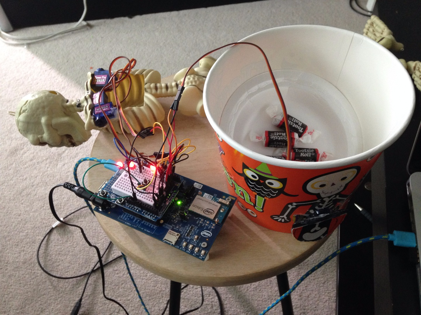 Picture of Adding Servo the Dispenser and Testing the Circuit