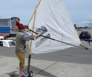 Steampunk Lugsail Land Windsurfer