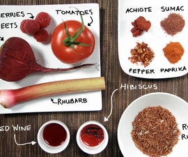 Red foods! Colorful cooking without artificial dyes.