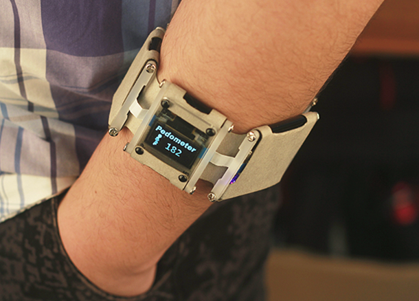 Picture of DIY a Pedometer Bracelet by Intel Edison And.....Paper