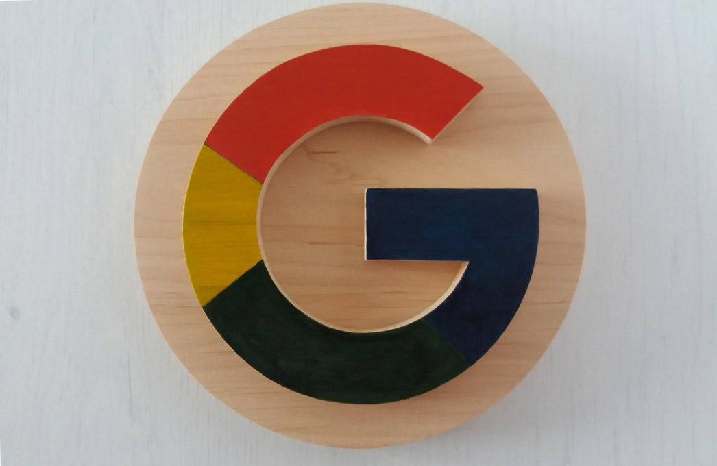 Picture of Wooden Google Logo