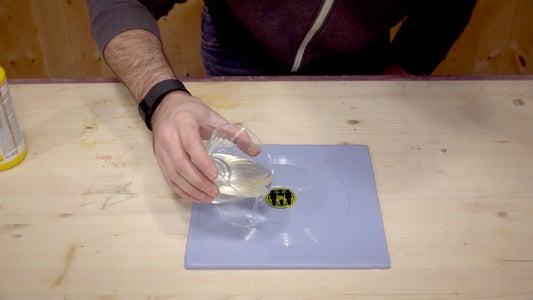 Pour in the Liquid Plastic Resin