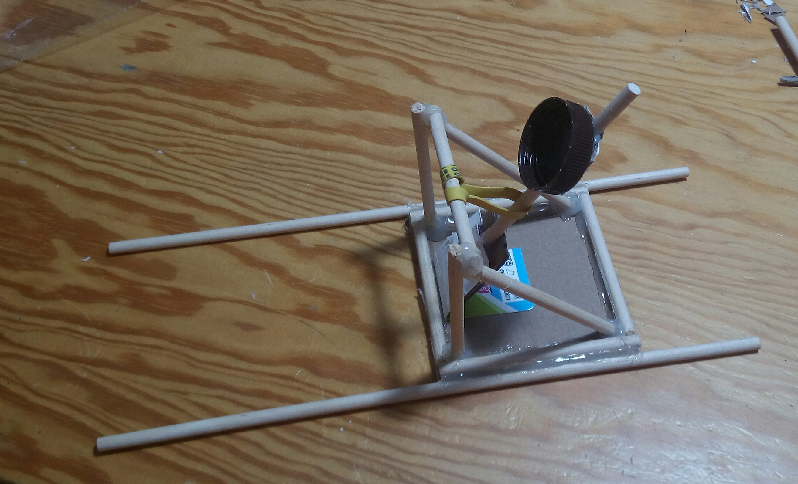 Picture of Finish With the Launcher Stick and the Projectile Holder. You Have a New Fully Functional Catapult. Enjoy!