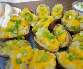 Fancy Cheese Potato Skins