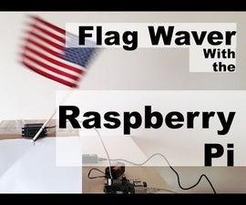 Raspberry Pi Servo Flag Waver