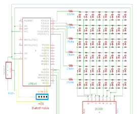 6*8 LED Display Using a Decoder and Atmega8