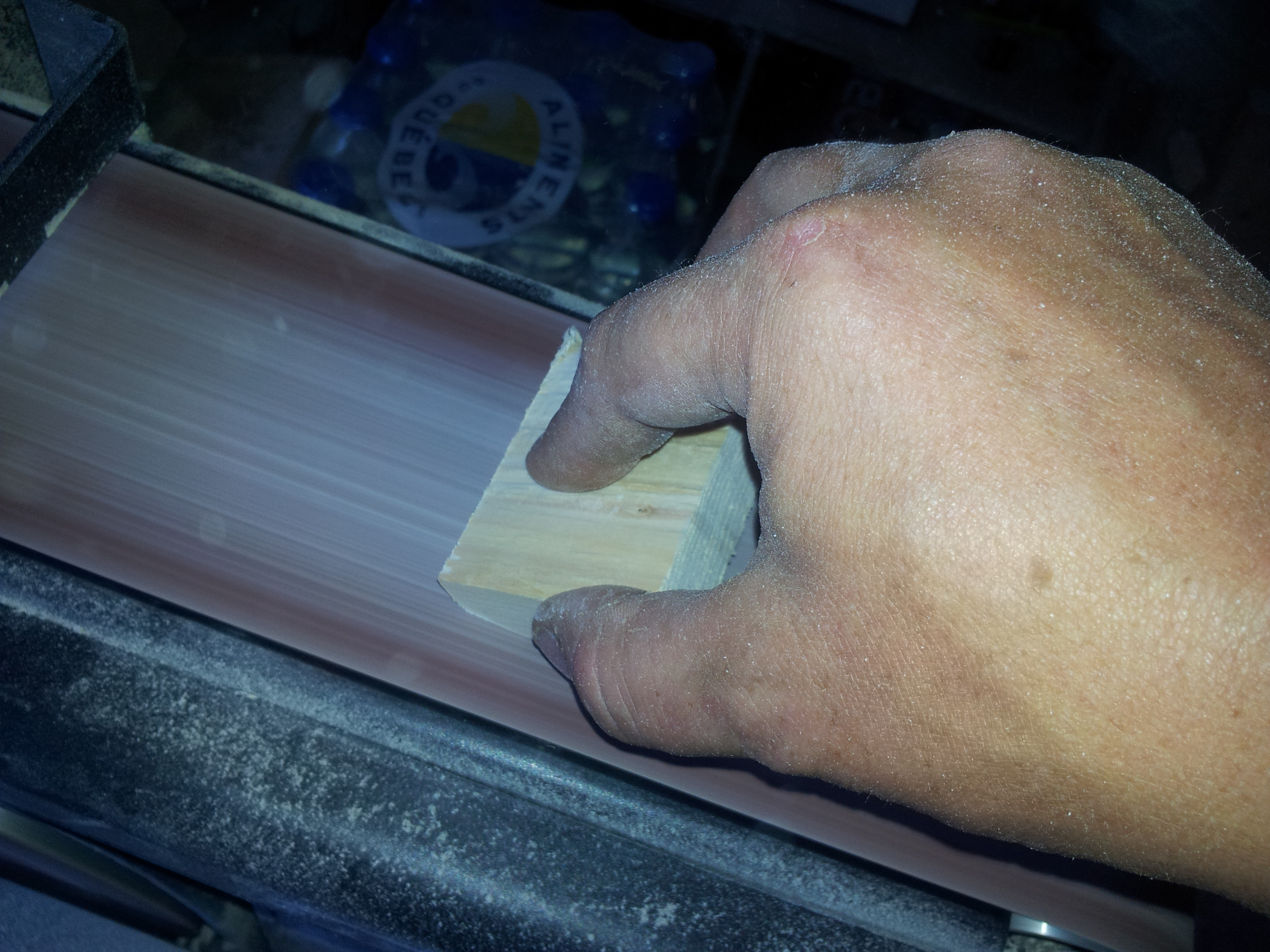 Picture of Sanding, and Creating the Bevel Edge of the Clamp