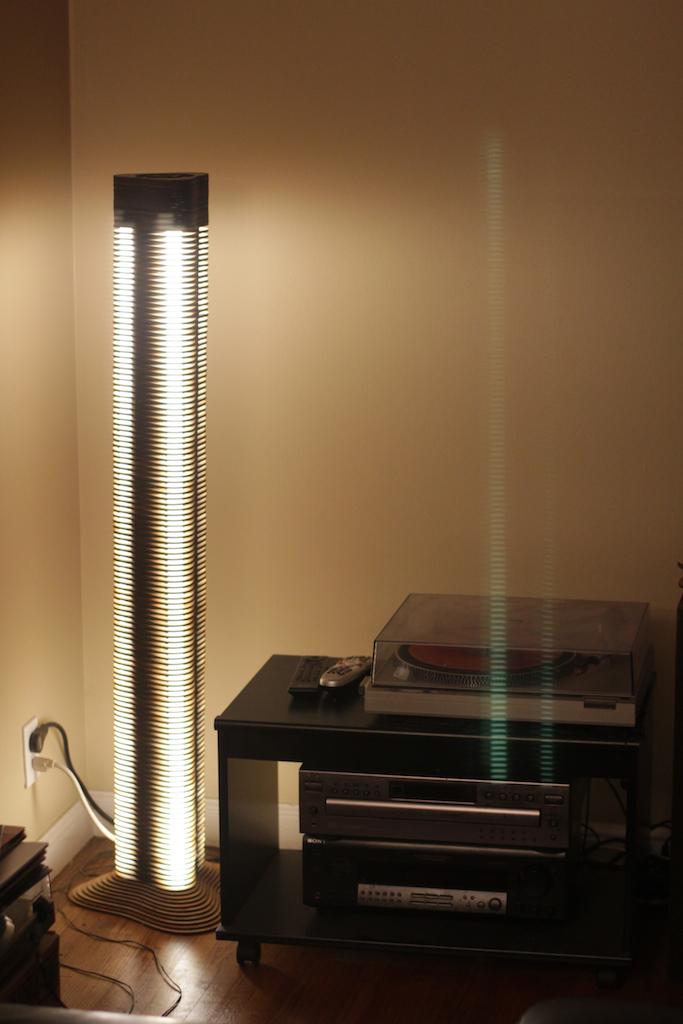 Picture of Triton - Fluorescent Lasercut Floor Lamp