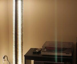 Triton - Fluorescent Lasercut Floor Lamp