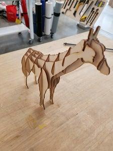 Laser Cut Giraffe