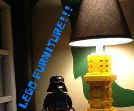 Lego Working Lamp, Drawer, Coaster, And Table Top.
