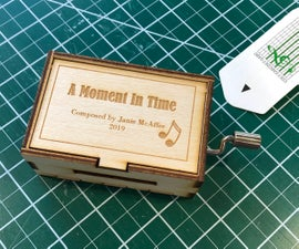 Laser Cut Music Box for Custom Composition