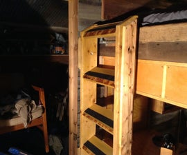 Hinged Loft Bed Staircase