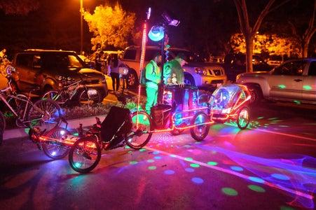 Bubbletrain With 16 Monkeylights by Sheldon Hambrick
