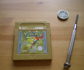 How to replace the battery in a pokemon gold/silver gameboy cart