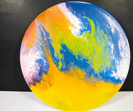 Acrylic Pour Painting Art