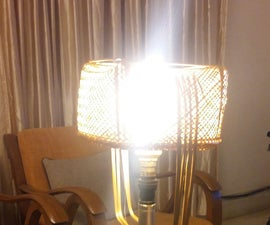 Rustic Wine Bottle Table Lamp