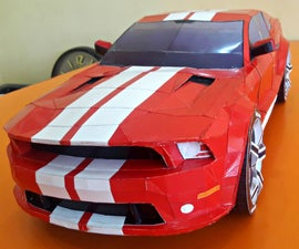 Mustang GT500 Supersnake Shelby Papercraft