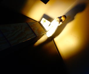 """Let There Be Light"" : Hand-made Shadow-box/Projector"