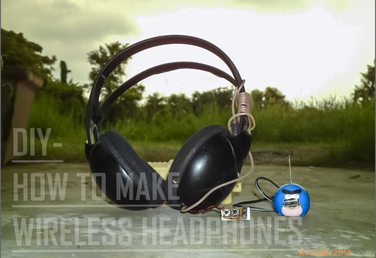Picture of DIY- HOW TO MAKE WIRELESS HEADPHONES