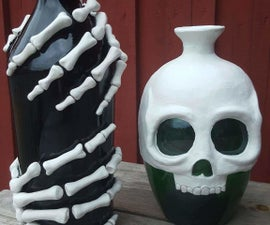 DIY Skeleton Bottles