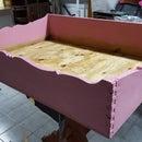 Dog Bed Wood Vintage