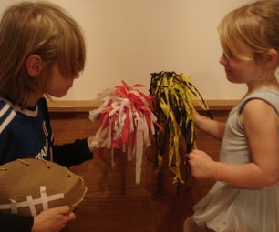 Homemade Pom-poms So You Can Get Yer Cheer on Super Bowl Sunday