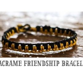 Macrame Friendship Bracelet (Tutorial)