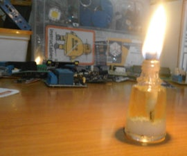 Cooking Oil Powered Lamp