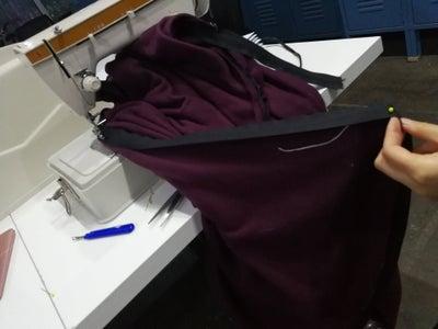 Sew Zipper Onto the Back