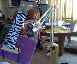 Make a Craft Stand from a Swing-Arm Lamp