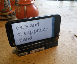 Free and easy cardboard phone stand