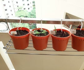 Home DIY Gravity Drip Irrigation for Herbs and Plants