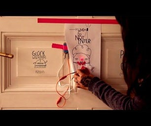 Make a Warning Sign With Red Light for Your Door Using Paper!
