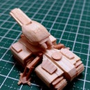 Starcraft 1 Terran Siege Tank Mini Popsicle Stick Model