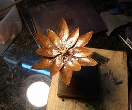 Flower from scrap metal