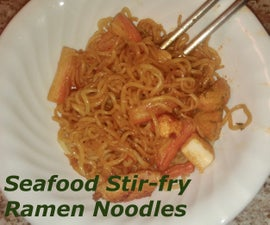 Seafood Stir-Fry Ramen Noodles