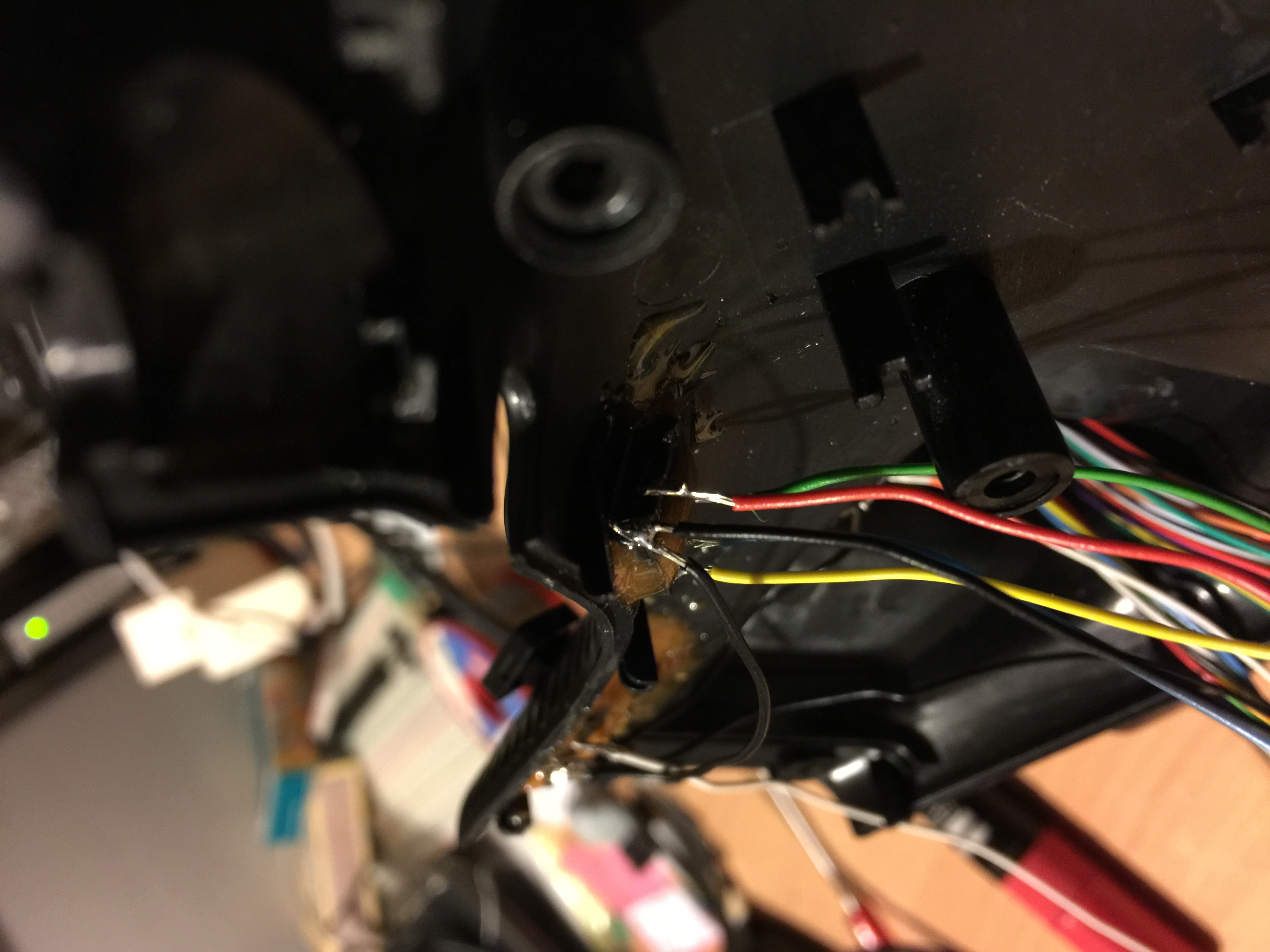 Picture of Solder the Buttons and Run the Signal Wires to the Arduino
