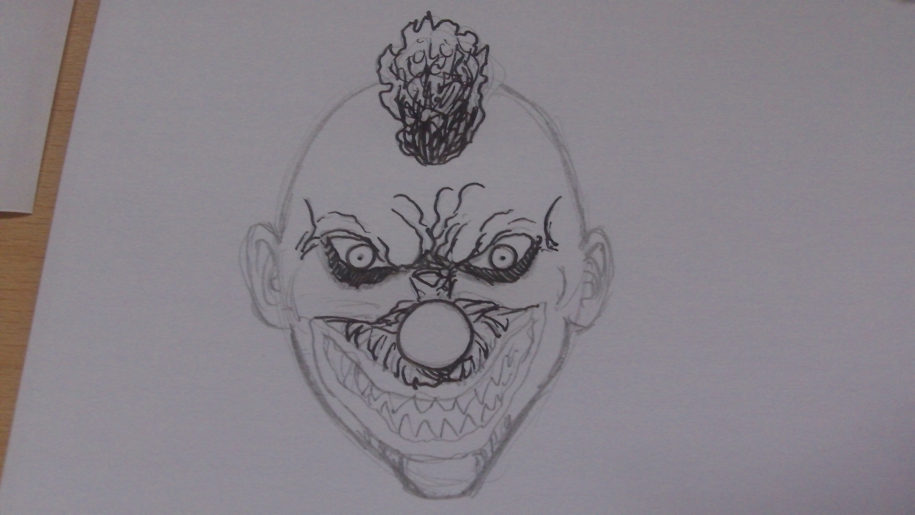 Picture of Inking the Killer Klown Face