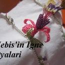 Making the fuchsia point lace - igne oyasi kupe cicegi yapilisi