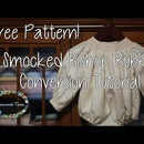 How-to Convert a Smocked Bishop Dress into a Bishop Bubble