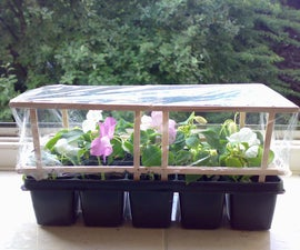 Greenhouse from wooden stirrers