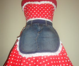 From denim skirt to Apron!