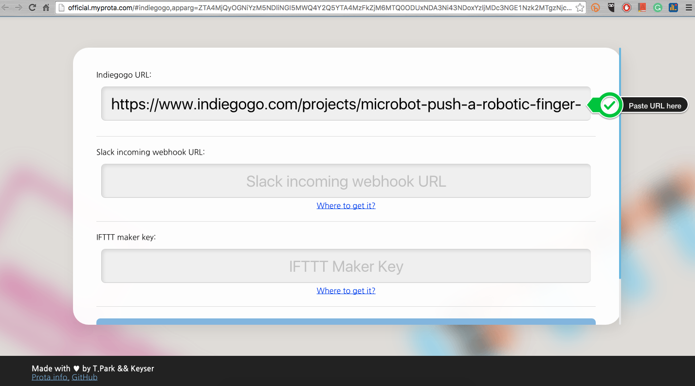Picture of Give URL to the Web App