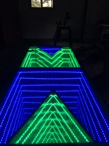 Test Out Lights, and Show Off the Table