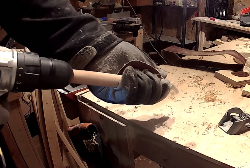 Picture of Use a Small Screw to Attach the Wood to the Drill