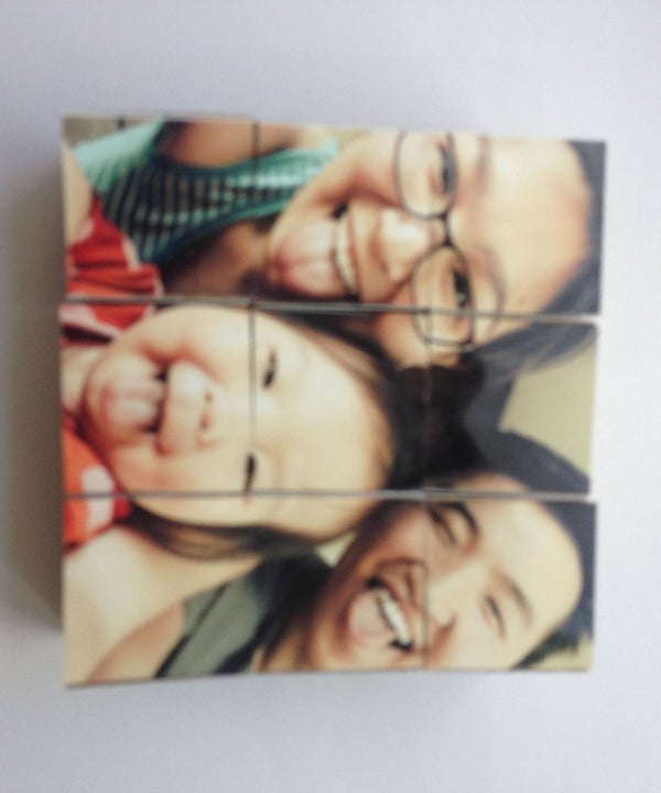Magnetic, Wooden, Puzzle Photo Block.